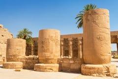 Αρχιτεκτονική του ναού Karnak σε Luxor Στοκ εικόνα με δικαίωμα ελεύθερης χρήσης