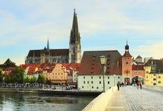 Αρχιτεκτονική του Ρέγκενσμπουργκ Στοκ εικόνα με δικαίωμα ελεύθερης χρήσης
