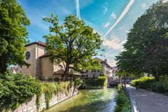 Αρχιτεκτονική του Annecy, Γαλλία, Ευρώπη Στοκ φωτογραφία με δικαίωμα ελεύθερης χρήσης