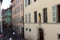 Αρχιτεκτονική του Annecy, Γαλλία Στοκ Φωτογραφία