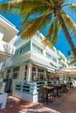 Αρχιτεκτονική του Art Deco στο ωκεάνιο Drive στη νότια παραλία, Μαϊάμι Στοκ Φωτογραφίες