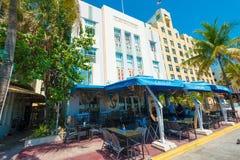 Αρχιτεκτονική του Art Deco στο ωκεάνιο Drive στη νότια παραλία, Μαϊάμι Στοκ Εικόνα