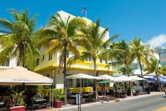 Αρχιτεκτονική του Art Deco στο ωκεάνιο Drive στη νότια παραλία, Μαϊάμι Στοκ εικόνα με δικαίωμα ελεύθερης χρήσης