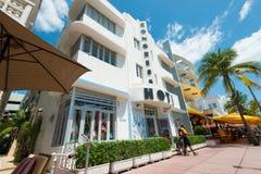 Αρχιτεκτονική του Art Deco στο ωκεάνιο Drive στη νότια παραλία, Μαϊάμι Στοκ Εικόνες