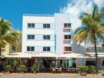 Αρχιτεκτονική του Art Deco στο ωκεάνιο Drive στη νότια παραλία, Μαϊάμι Στοκ φωτογραφίες με δικαίωμα ελεύθερης χρήσης
