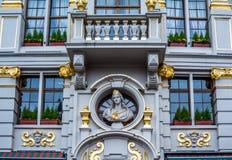 Αρχιτεκτονική των Βρυξελλών Χαλαρώστε - είστε στις Βρυξέλλες! Στοκ Εικόνες