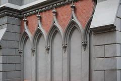 Αρχιτεκτονική Arcade στο κτήριο εκκλησιών από το εξωτερικό Στοκ Εικόνες
