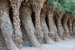 Αρχιτεκτονική Guell πάρκων από το Antoni Gaudi στη Βαρκελώνη Στοκ φωτογραφία με δικαίωμα ελεύθερης χρήσης
