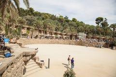 Αρχιτεκτονική Guell πάρκων από το Antoni Gaudi στη Βαρκελώνη Στοκ εικόνες με δικαίωμα ελεύθερης χρήσης