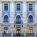 Αρχιτεκτονική Nouveau τέχνης στη Ρήγα, Λετονία Στοκ φωτογραφία με δικαίωμα ελεύθερης χρήσης