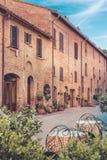 Αρχιτεκτονική Pienza, Ιταλία Στοκ Εικόνες