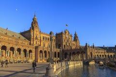 Αρχιτεκτονική Plaza de España, Σεβίλη, Ισπανία Στοκ εικόνα με δικαίωμα ελεύθερης χρήσης