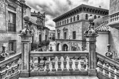 Αρχιτεκτονική Poble Espanyol στο Hill Montjuic, Βαρκελώνη, Cata Στοκ φωτογραφίες με δικαίωμα ελεύθερης χρήσης