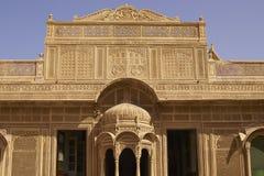 Αρχιτεκτονική Rajput σε Jaisalmer, Ινδία Στοκ Φωτογραφία