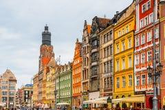 Αρχιτεκτονική Wroclaw, Πολωνία Στοκ φωτογραφίες με δικαίωμα ελεύθερης χρήσης