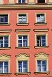 Αρχιτεκτονική Wroclaw, Πολωνία, Ευρώπη Κέντρο της πόλης, ζωηρόχρωμες, ιστορικές τετραγωνικές κατοικίες αγοράς Χαμηλότερη Σιλεσία, στοκ εικόνες με δικαίωμα ελεύθερης χρήσης