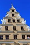 Αρχιτεκτονική Wroclaw, Πολωνία, Ευρώπη Κέντρο της πόλης, ζωηρόχρωμες, ιστορικές τετραγωνικές κατοικίες αγοράς Χαμηλότερη Σιλεσία, στοκ εικόνα