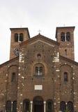 Αρχιτεκτονικός στενός επάνω της πρόσοψης της εκκλησίας SAN Sepolcro Στοκ φωτογραφίες με δικαίωμα ελεύθερης χρήσης