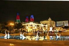 Αρχιτεκτονικός σύνθετος στη λεωφόρο του Μπακού στοκ εικόνες