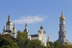 Αρχιτεκτονικός σύνθετος του ορθόδοξου μοναστηριού στον ιστορικό Στοκ Φωτογραφίες