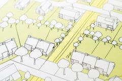 αρχιτεκτονικός rotunda κύκλος τεμαχίων σχεδίων οικοδόμησης στοκ φωτογραφίες