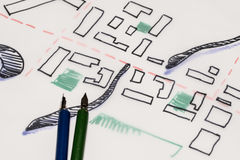 αρχιτεκτονικός rotunda κύκλος τεμαχίων σχεδίων οικοδόμησης στοκ φωτογραφία