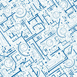 Αρχιτεκτονικό άνευ ραφής σχέδιο απεικόνιση αποθεμάτων