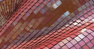 Αρχιτεκτονικό κόκκινο σχέδιο μετάλλων φιλμ μικρού μήκους