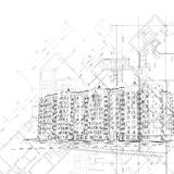 αρχιτεκτονικό μαύρο διαν&u Στοκ Εικόνες