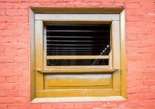 Αρχιτεκτονικό ξύλινο παράθυρο Στοκ εικόνες με δικαίωμα ελεύθερης χρήσης