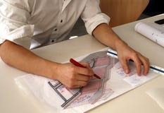 αρχιτεκτονικό σκίτσο Στοκ φωτογραφίες με δικαίωμα ελεύθερης χρήσης