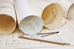αρχιτεκτονικό σχέδιο πα&lambd στοκ φωτογραφίες