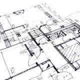 αρχιτεκτονικό σχέδιο σχεδίων του προγράμματος σπιτιών - αρχιτεκτονική, εφαρμοσμένη μηχανική και ορισμένη έννοια ακίνητων περιουσι απεικόνιση αποθεμάτων