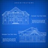 Αρχιτεκτονικό σχέδιο του κτηρίου με την προδιαγραφή διανυσματική απεικόνιση
