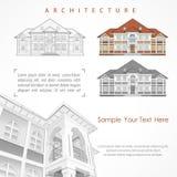 Αρχιτεκτονικό σχέδιο του κτηρίου με την προδιαγραφή ελεύθερη απεικόνιση δικαιώματος