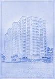 Αρχιτεκτονικό σχέδιο Στοκ Εικόνα