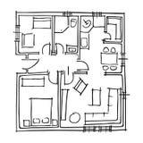 Αρχιτεκτονικό σχεδιάγραμμα Στοκ Εικόνες