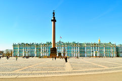 Αρχιτεκτονικό σύνολο τετραγώνου παλατιών στην Άγιος-Πετρούπολη, Ρωσία Στοκ φωτογραφία με δικαίωμα ελεύθερης χρήσης