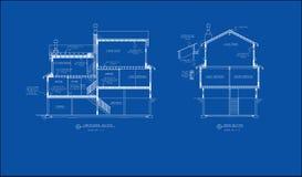 αρχιτεκτονικό τμήμα σχεδί&o Στοκ φωτογραφία με δικαίωμα ελεύθερης χρήσης