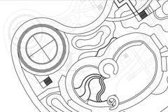 Αρχιτεκτονικό υπόβαθρο, σχέδιο τοπίων Στοκ εικόνα με δικαίωμα ελεύθερης χρήσης