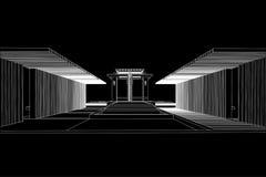 Αρχιτεκτονικό υπόβαθρο, σχέδιο τοπίων Στοκ Φωτογραφία