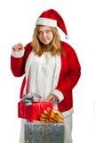 Αρωγός Santa με τα δώρα Στοκ φωτογραφίες με δικαίωμα ελεύθερης χρήσης
