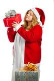 Αρωγός Santa με τα δώρα Στοκ Εικόνα