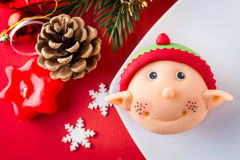 Αρωγός Santa cupcake Στοκ φωτογραφίες με δικαίωμα ελεύθερης χρήσης