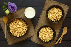 Αρωματικά μέλι δημητριακά προγευμάτων Στοκ Εικόνα