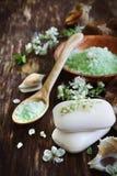 Αρωματικά σαπούνι και άλας Στοκ Εικόνες