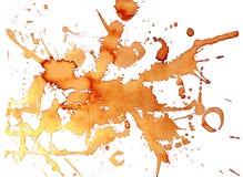 Αρωματικός λεκές καφέ Το σχέδιο είναι χρωματισμένο με τα σταγονίδια καφέ διανυσματική απεικόνιση