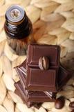 αρωματικό πετρέλαιο καφέ σοκολάτας Στοκ Φωτογραφία