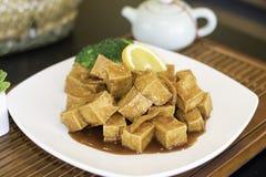Αρωματικό πορτοκάλι Tofu Στοκ Εικόνες