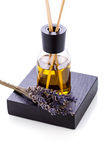 Αρωματικό lavender ευώδες αντικείμενο πετρελαίου που απομονώνεται Στοκ Εικόνα
